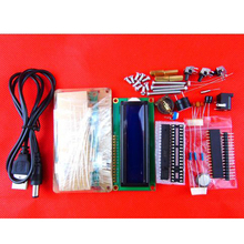 1 Set 5V LCD1602 Multifunction Electronic Clock Suite Microcontroller 51