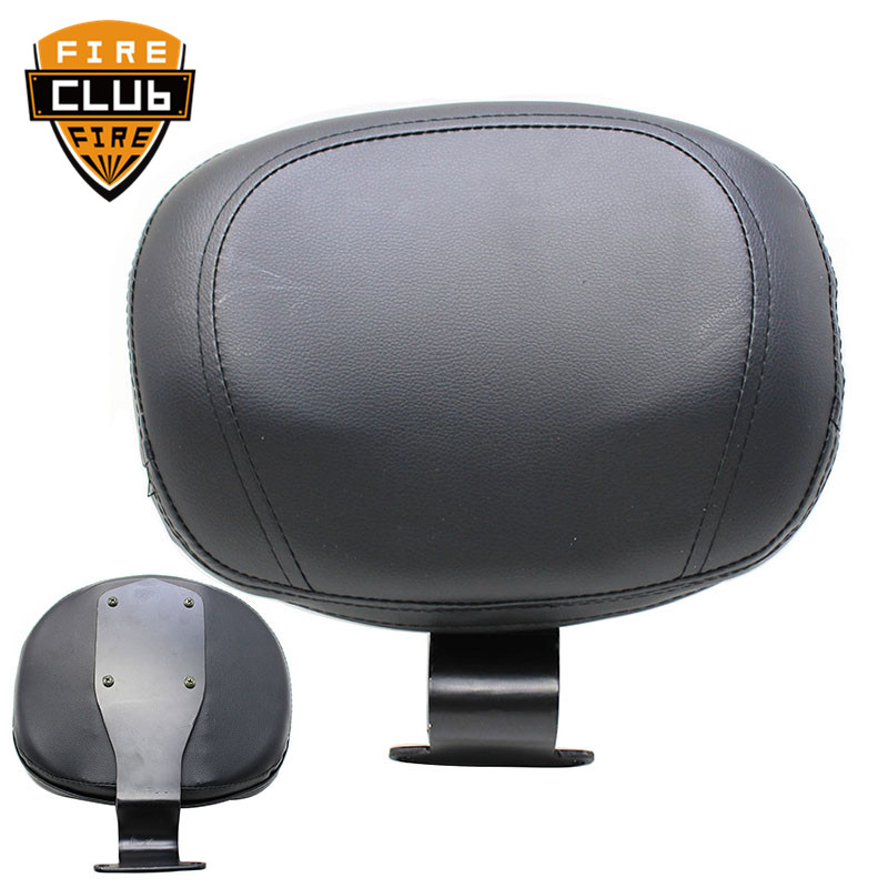 Motorcycle Synthetic Leather Pad Front Driver Backrest Sissy Bar For Honda VTX 1800