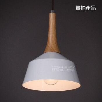 Modern E27 Aluminum Led Pendant Lamp Lights Fixtures Wood Dining Room Bar Cafe Shop Store Club Bedroom Pendant Lighting Decor