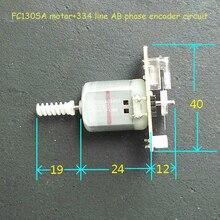 Кодовый диск для измерения скорости двигателя 334 линия AB фазовый кодировщик двигателя DC3-24v 8200-16800 об/мин углеродная щетка FC130SA микро мотор