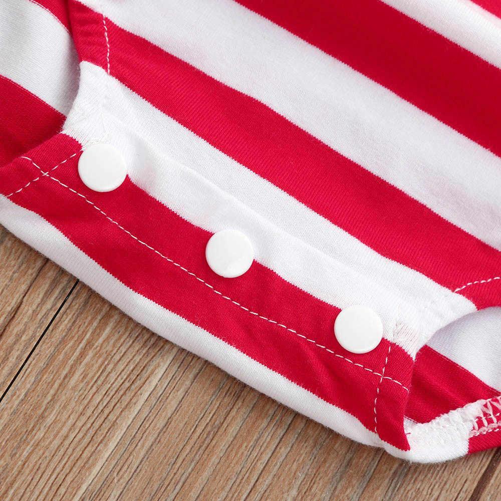ARLONEET Детские Ползунки для новорожденных, комбинезон в красную полоску с белыми звездами 4 июля от 0 до 24 месяцев, Прямая доставка 30S427