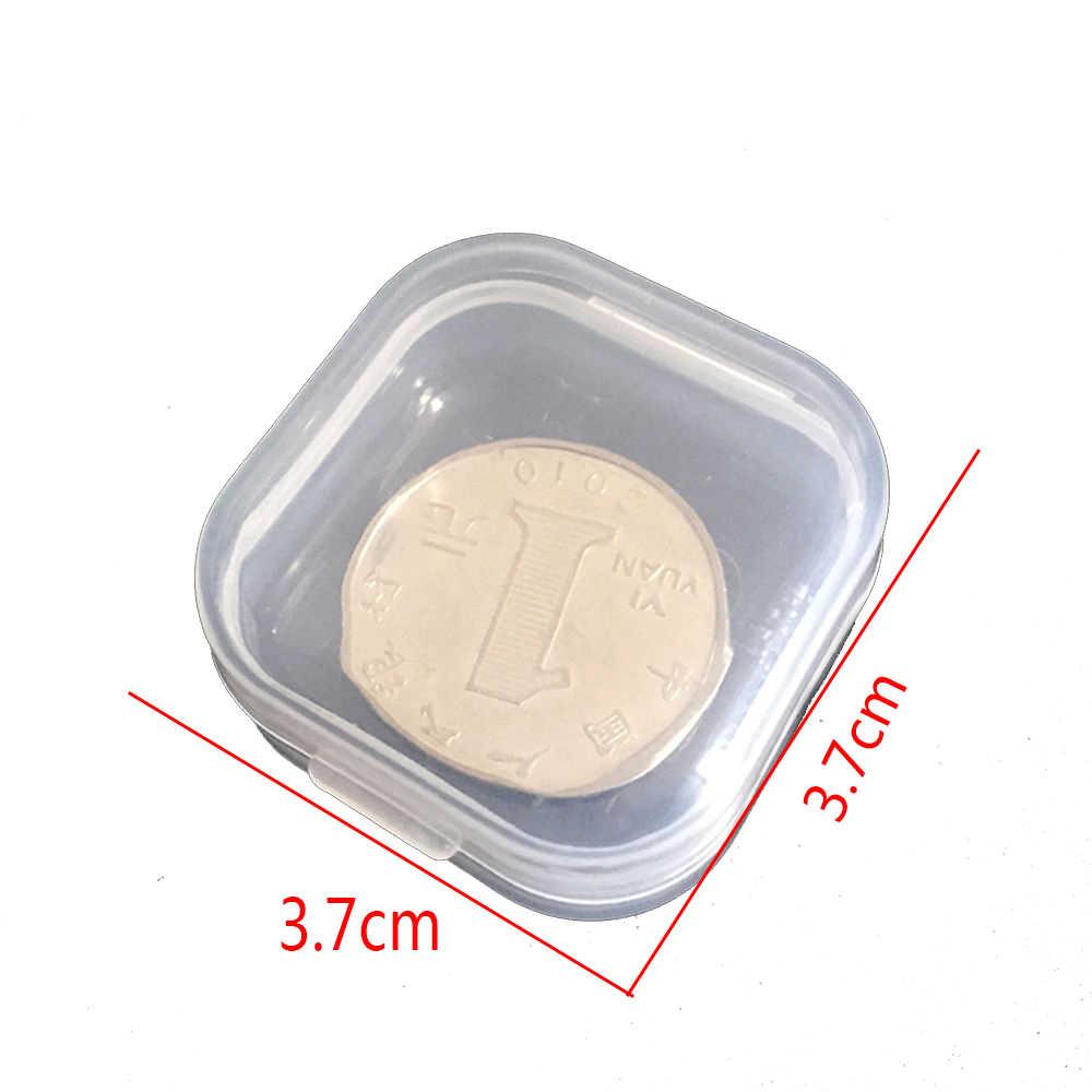 5 Pcs Mini Plastik Kotak Penyimpanan Kecil untuk Hook Hook Perhiasan Penyumbat Telinga Baterai Pemegang Organizer Populer Portabel Wadah