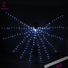 2019 NEW Women Belly Dance Isis Wings LED Accessory Dancer Props With Sticks Adult Bollywood Oriental Design