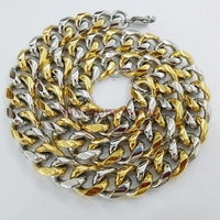 8 40 10mm Cool Men S Curb Cuban Chain Necklace Or Bracelet 316L Stainless Steel Jewelry