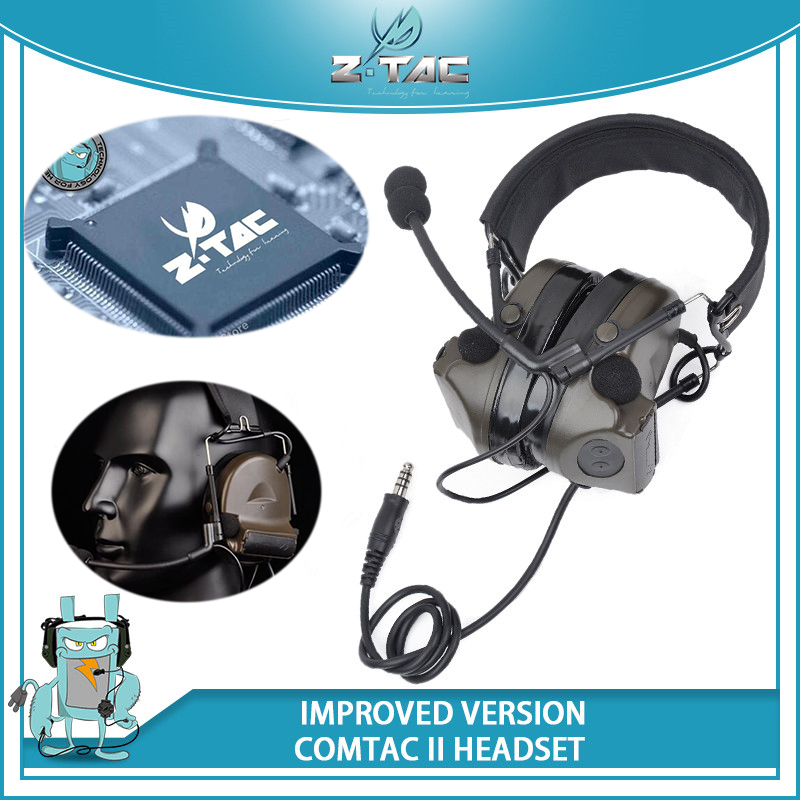 все цены на Z-Tactical Improved Ver. Softair Aviation Headset Comtac II Headsets Noise Cancelling with Silicone Sponge Earmuffs Airsoft Z044 онлайн