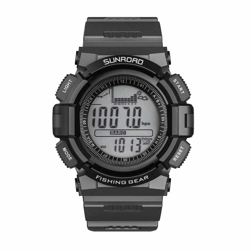SUNROAD Men Sports Digital Black Watches-Weather Forecast Waterproof Hiking Compass Barometer Altimeter Thermometer Watches