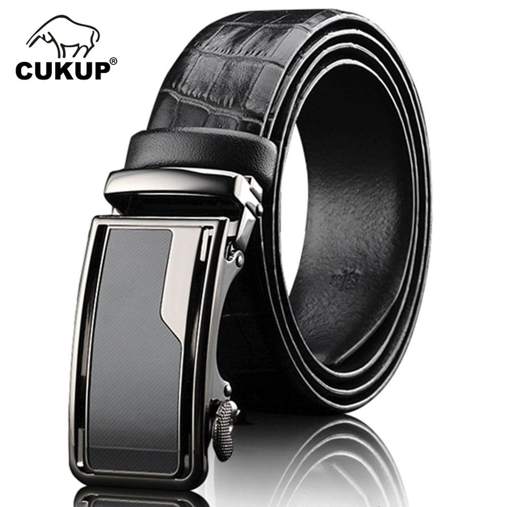 CUKUP Mens Designer Pure Cow Leather Belts Luxury Automatic Waist Belt For Jeans Formal Casual Western Accessories Men NCK657