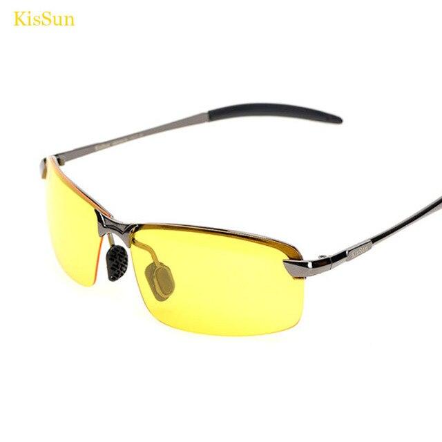 2017 Homens Da Moda Marca Motorista Óculos de Visão Noturna Noite Amarelo  Óculos De Sol Homem 15e478f992