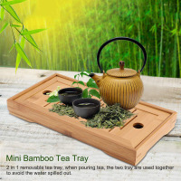 Bamboo Tea Tray Chinese Gongfu Tea Accessories High Quality Serving Food Coffee Tea Cutlery Tray Tea Serving Tray Set