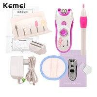 Kemei Depilatory Electric Female Epilator Women Hair Removal For Facial Body Armpit Leg Depilador Depilation With