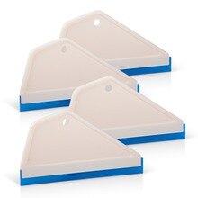 EHDIS 4pcs חלון מגב לניקוי זכוכית גומי מים מסיר מכונית ניקוי כלים קרח מגרד אוטומטי חלון גוון כלי רכב לעטוף כלי