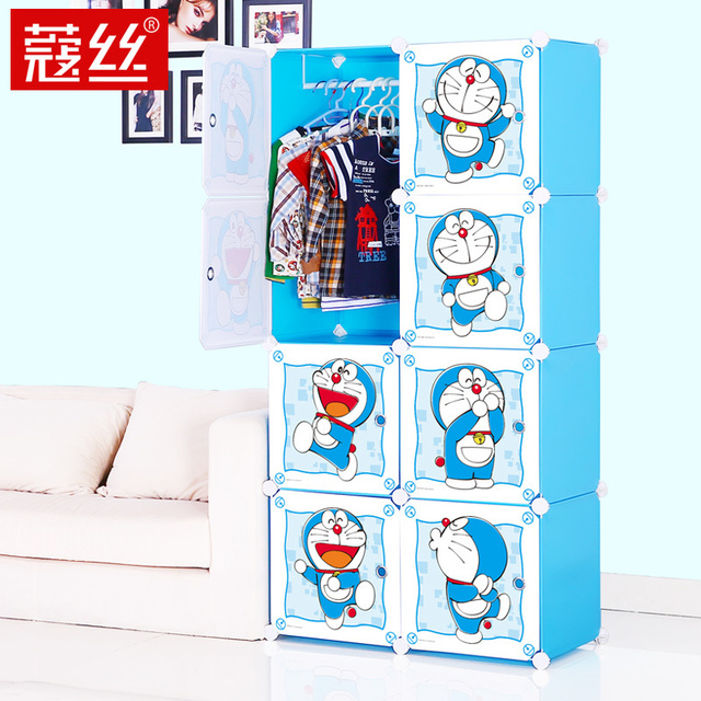 8 Cubes Childrenu0027s Cartoon Wardrobe Closet Storage Cabinet Clothing Armoire  Kids Closet Organizer Storage Organizers