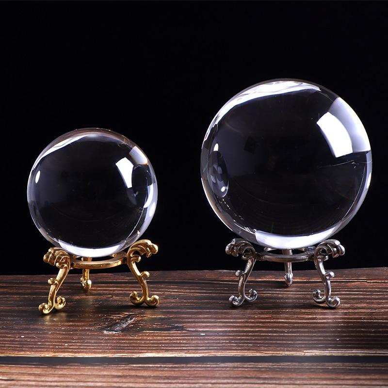 K9 Bola de Cristal Bola De Vidro Transparente para o Presente de Aniversário Fotografia Adereços Bola Ajuda Casa Deroc Lembrança Do Presente Acessórios de Cristal