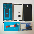 Full housing Cover case For Samsung Galaxy Note 3 N9005 Front Bezel Frame LCD Panel & battery door cover & tools kit & UV glue