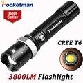 3800 Lumens T6 Led Lanterna Lampe Torche Levou Tocha Zoomable Impermeável Lanterna Tática lanterna Camping Caminhadas ZK93