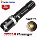 3800Lumens T6 Led Flashlight Torche Led Torch Lampe Zoomable Waterproof Tactical Flashlight lanterna Camping Hiking ZK93
