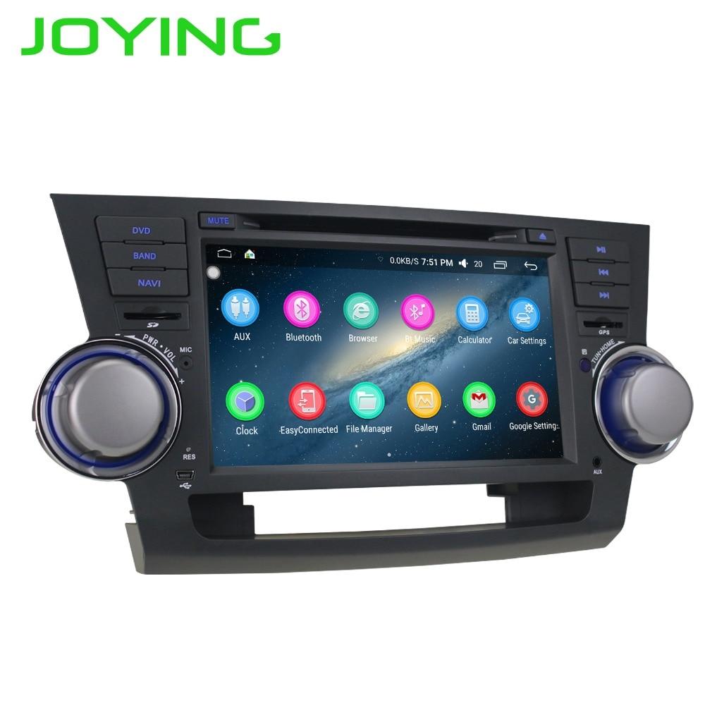 Joying 82 DIN 2GB Android Car Radio Stereo Tape Recorder For TOYOTA Highlander Kluger GPS Navi Head Unit Support Steering Wheel
