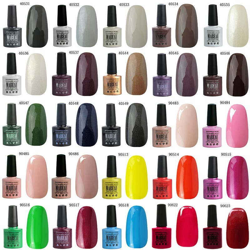 Factory Price Any 5 Mabeau 10ml Color Nail Gel Polish Brands UV Gel ...