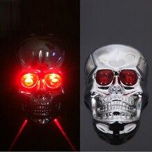 Skull Head Shaped Cycling Bike font b Bicycle b font 2 Laser Beam and 5 LED