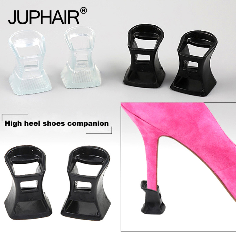 12 Pairs Womens Heels Protectors High Heels Dancing Covers Anti-Slip Silicone Cap On The Heel For The Bride Wedding Shoes Favor
