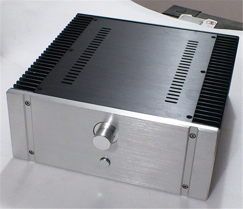 QUEENWAY 3213 CNC Full aluminum audio chassis Case Class A power amplifier box 320mm*130mm*316mm 320*130*316mm queenway audio 2215 cnc full aluminum amplifier case amp chassis box 221 5mm150mm 311mm 221 5 150 311mm