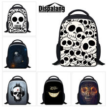 bf67a2cb12501 Dispalang dzieci mini plecak 3D czaszka drukuj dzieci torby szkolne dla  chłopców dziewcząt książka dla dzieci