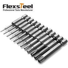 12pcs/set S2 TORX Screwdriver Bit Tools Magnetic Electric Air 1/4 Shank T8 T9 T10 T15 T20 T25 T30 T40