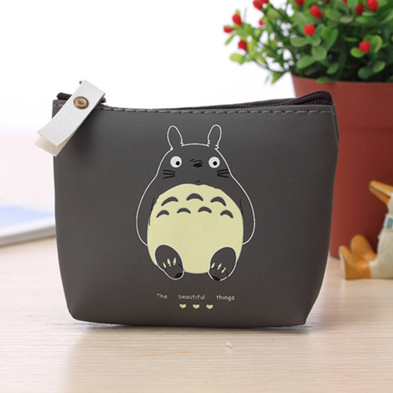 Hot Sale Totoro Cute Cartoon Coin Purse Bag Casual Zero Headset Package Business Zip Credit Card Purse Keychain Pouch Women Bags
