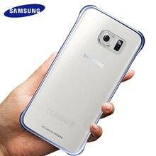 Samsunga Galxy S7 S6 Edge чехол Прозрачный Жесткий ПК Тонкий чехол на заднюю панель Полная защита от царапин Роскошный прозрачный чехол