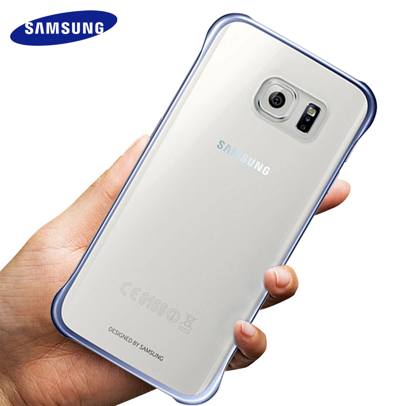 Samsunga Galxy <font><b>S7</b></font> S6 <font><b>Edge</b></font> <font><b>Case</b></font> Transparent Hard PC Slim Back Cover Full Protective Anti-knoc 100% <font><b>original</b></font> luxury Clear Shell image