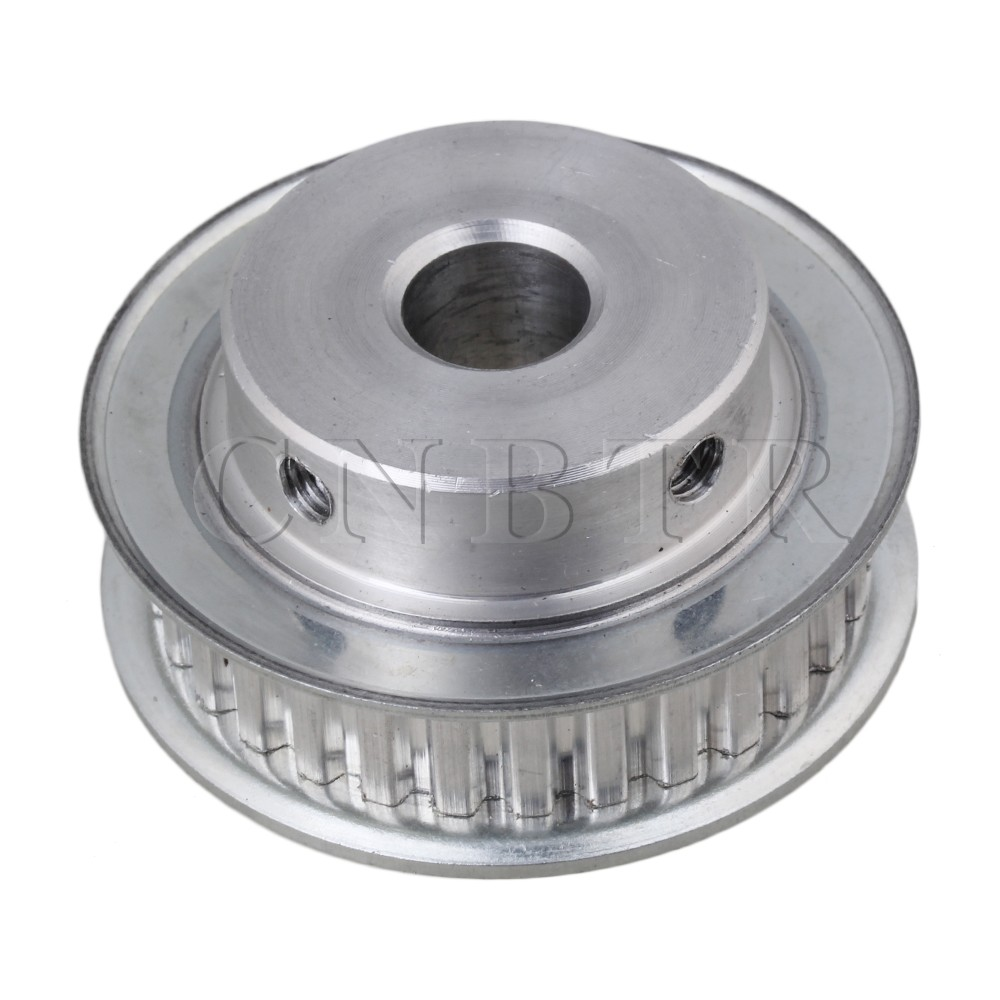 CNBTR <font><b>XL</b></font> Type Aluminum Timing <font><b>Belt</b></font> <font><b>Pulley</b></font> 30T 12mm Bore Finish Double Flange image
