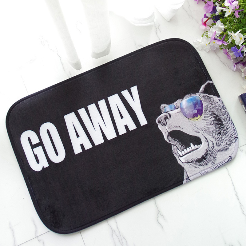 40x60cm Go Away Funny Entrance Door Mat Anti Slip Floor