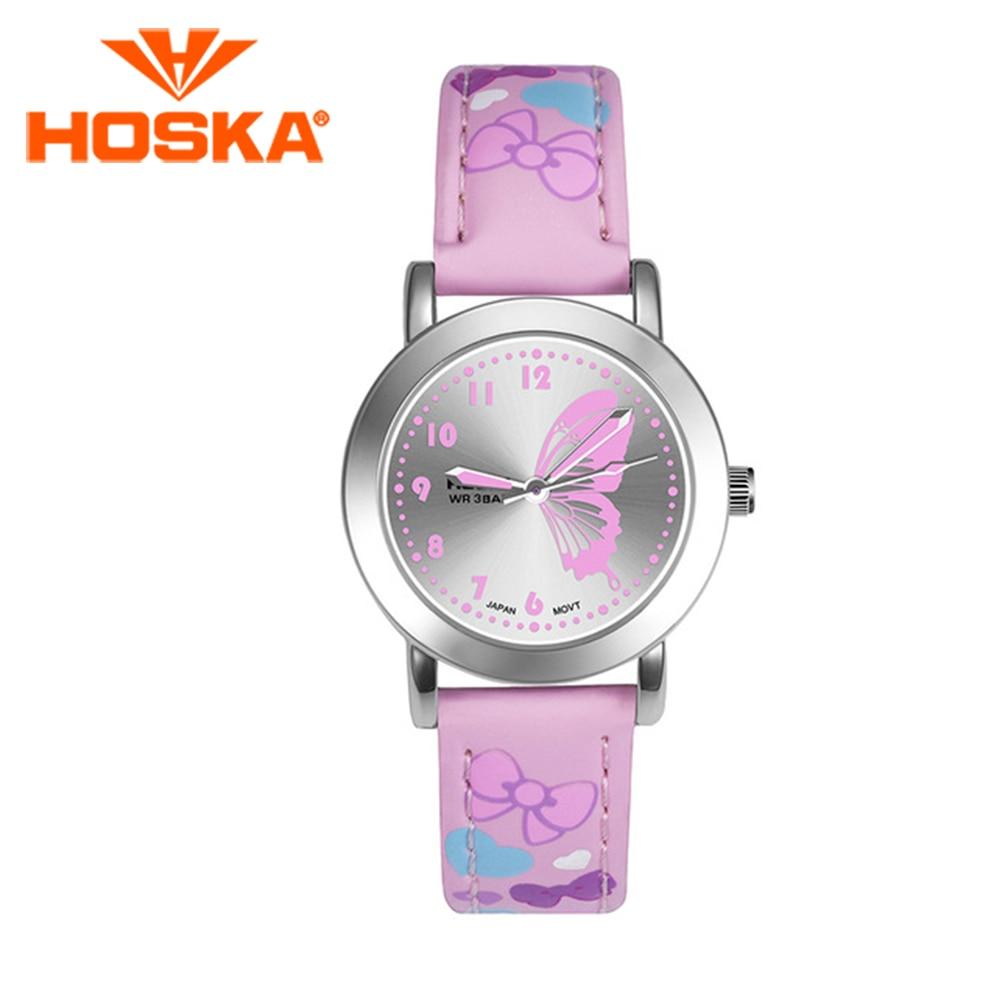 HOSKA Children's Watches Colorful Kids Girls Waterproof Student Cute 50M Quartz H803S
