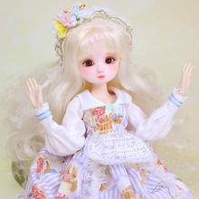 DBS toy 1/4 BJD 45cm Joint Body with makeup outfits shoes, head can be opened