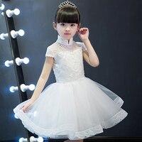 Luxury Knee Length Sweet Princess Kid Dress For Girls Summer 2018 Flower Girls For Wedding And Prom Party kids Girls Dresses P24