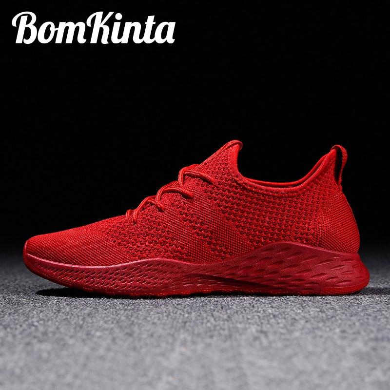 BomKinta Men Vulcanized Shoes Walking Sneakers Shoes Male Red Trainers Male Sneakers Tenis Masculino Zapatillas Big Size 48 #K11