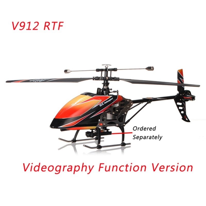 Original Product WLtoys V912 Sky Dancer 2 4G 4CH RC Helicopter RTF with  Videography Function Remote Control Toys