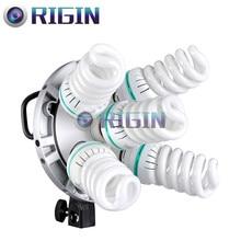 Godox Photo Studio Godox TL-5 5in1 E27 Socket Tricolor Bulb Light Speedring Lamp Head Multi-Holder Camera Photography Lighting