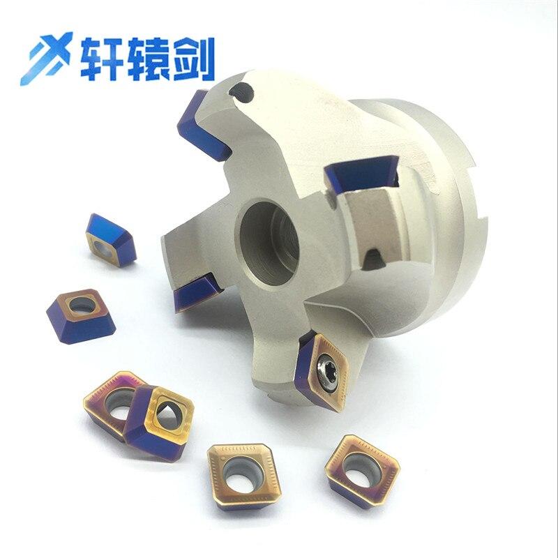 SEKT1204 10PCS+1PCS KM12 63 22 4T Milling holder carbide Insert Face Mill Shoulder Cutter For Milling cutter Machine