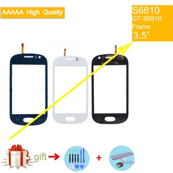 цена на For Samsung Galaxy Fame S6810 GT-S6810 Touch Screen Panel Sensor Digitizer Front Glass Outer Lens Touchscreen No LCD