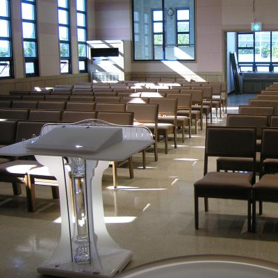 Acrylic Crystal Column Pulpit, Podium, Church Interior, Stained Glass, Pillars, Supports, Columns, Religion