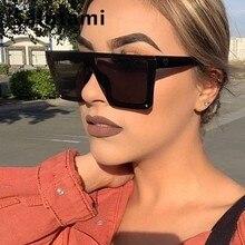 One Piece Oversize Women Sunglasses Fashion Luxury Brand Rim