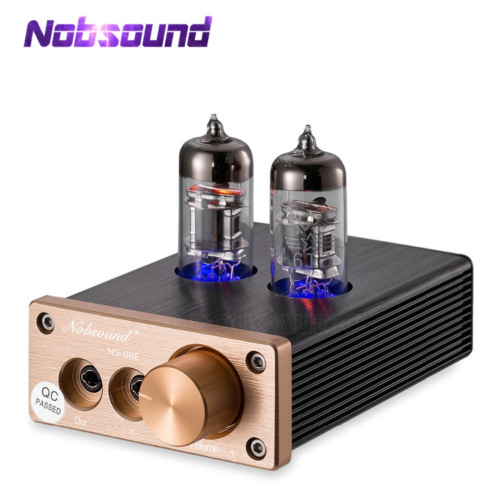 Nobsound mini 6j3 tubo de vácuo pre-amplificadores de áudio alta-corrente fone de ouvido estéreo de alta fidelidade amp