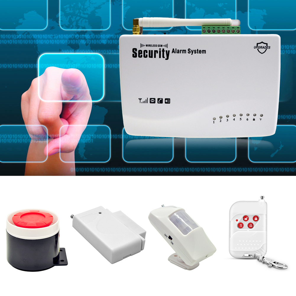 Wireless GSM Home Security Auto Dialer SMS SIM Call 433MHz Burglar Alarm System ...