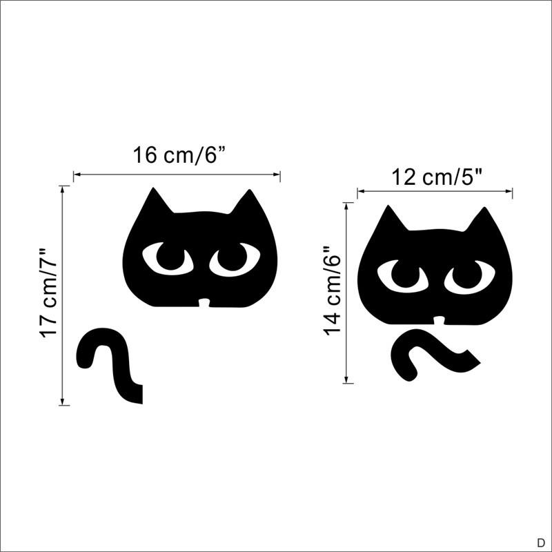 DIY Funny Cute Black Cat Dog Rat Mouse Animls Switch Decal Wall Stickers DIY Funny Cute Black Cat Dog Rat Mouse Animls Switch Decal Wall Stickers HTB1uj