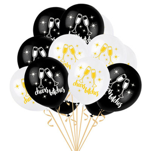 Image 4 - 12inch Penis Letter Latex Balloons Black Offensive Ballons Happy Birthday Decorations Hen Bachelorette Wedding Party Supplies