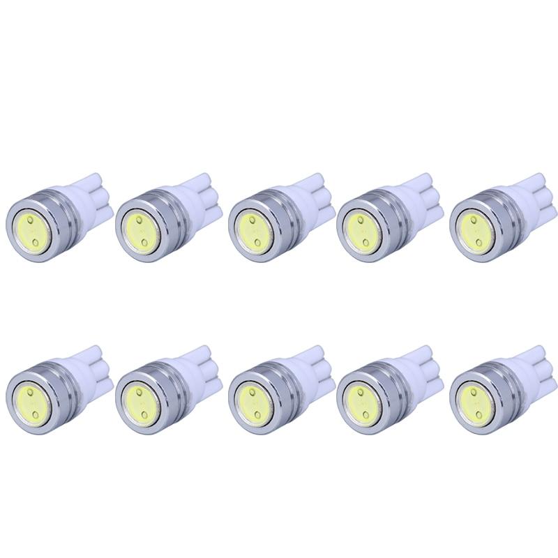 10pcs/lot T10 W5W LED Bulbs 194 168 COB Xenon White Parking  Interior Side Dashboard License Light Lamp Car Styling