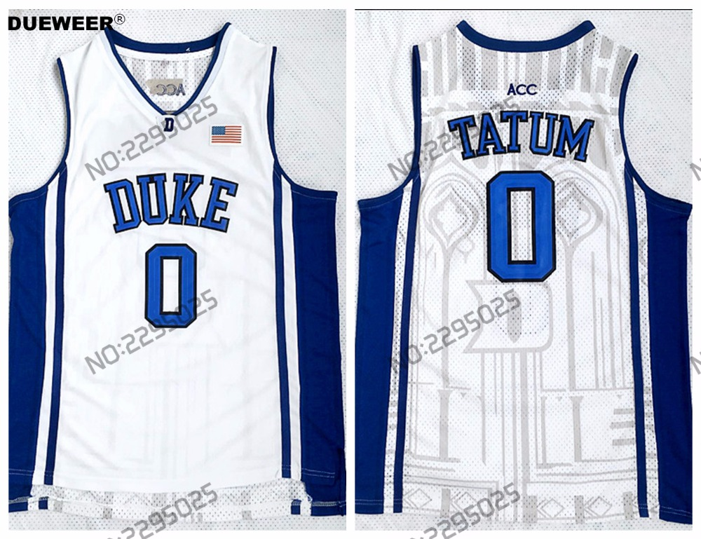 ... jersey blue white black where can i buy dueweer mens 2018 new duke blue  devils 0 jayson tatum college basketball ... 5a8a04d01