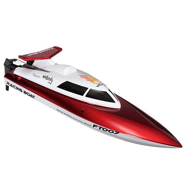 Offre spéciale Feilun FT007 4CH 2.4G refroidissement par eau haute vitesse course télécommande RC bateau pour enfants garçons