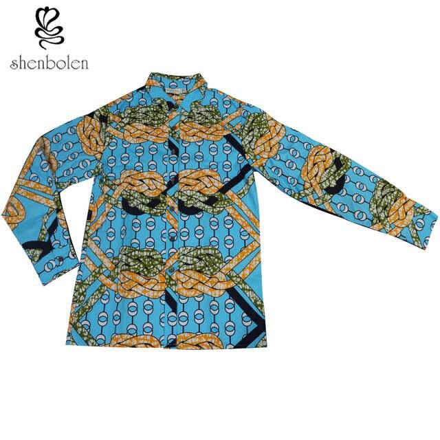 82ba2b9c9ac4 Shenbolen African Clothes For Couples Shirt Men And Women Can Wear Ankara  Batik Wax Cotton Top-in Blouses & Shirts from Women's Clothing on  Aliexpress.com ...